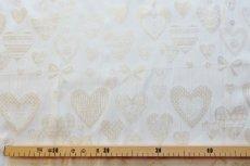 画像4: 「即納F」はぎれ70x50:ハート・オーナメント(ジャカード、平行、ゴールドラメ)/115g (4)