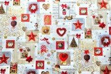 画像2: 「即納J」はぎれ70x50:クリスマスの天使たち(写真、額装風)/ 95g (2)