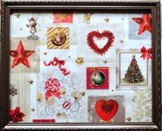 画像4: 「即納J」はぎれ70x50:クリスマスの天使たち(写真、額装風)/ 95g (4)