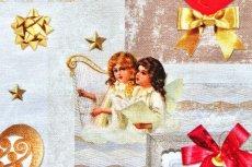 画像7: 「即納J」はぎれ70x50:クリスマスの天使たち(写真、額装風)/ 95g (7)