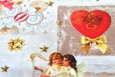 画像14: 「即納J」はぎれ70x50:クリスマスの天使たち(写真、額装風)/ 95g (14)