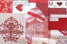 画像8: 「即納J」はぎれ70x50:メリークリスマス(パッチワーク風、赤・ベージュ)/ 95g (8)