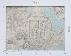 画像6: 「即納J/F」はぎれ80x50:シャンペートル(水色ベースグレイ)/95g (6)