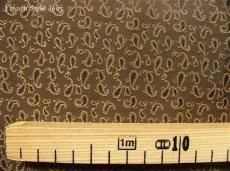 画像3: 「移動中」はぎれ70x50:プティペイズリー(ブラウン) /55g (3)