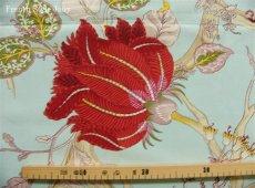 画像9: 「J即納/F在庫」はぎれ70x100:ダージリン(水色ベース・大花) /190g (9)