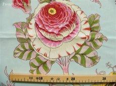 画像10: 「J即納/F在庫」はぎれ70x100:ダージリン(水色ベース・大花) /190g (10)