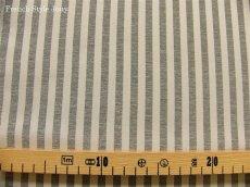 画像2: 「即納J/F」布:オルレアン(ストライプ、2色グレイ) /540g (2)