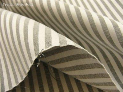 画像1: 「即納J/F」布:オルレアン(ストライプ、2色グレイ) /540g