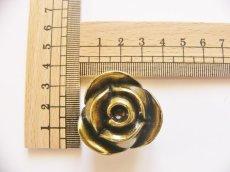 画像3: 「即納F」取っ手:ブルジェオン径3.3cm(アンティークゴールド)/110g (3)