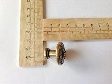 画像3: 「移動中/即納F」取っ手:ダリア(直径3cm、アンティークゴールド) /30g (3)