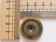 画像3: 「即納F」取っ手:百合の紋章 径30mm(丸形ボタン、アンティークゴールド)/35g (3)