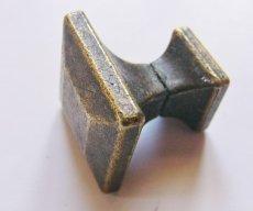 画像3: 「即納F」取っ手:スクエア22mm(アンティークゴールド)/45g (3)