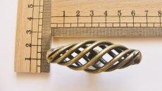 画像4: 「即納F」取っ手:カージュ横長60mm(アンティークゴールド)/50g (4)