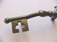 画像3: 「即納F」取っ手:カギ型12x4cm(アンティークゴールド)/55g (3)