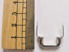 画像3: 「即納F」つまみ金具:凹型差し込み式金具19mm(シルバー)/15g (3)