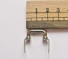 画像4: 「即納F」つまみ金具:凹型差し込み式金具19mm(シルバー)/15g (4)