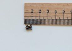 画像2: 「J即納」つまみ金具6mmブラック/10g (2)
