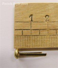 画像2: 「J即納/F在庫」割りピン6mm(ゴールド)12個セット /10g (2)