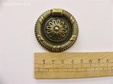 画像2: 「移動中/即納F」取っ手:紋章・ルイ16世(直径4.5cm、アンティークゴールド) /50g (2)