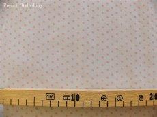 画像2: 「J即納/F在庫」布:ドッツ(ライトグレイベースピンク)長さ50cm単位 (2)