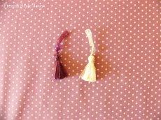 画像4: 「即納J/即納F」布:ドッツ(紫ベース)長さ50cm単位 /80g (4)