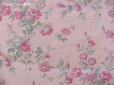 画像1: 「即納J/F」布:マリオン(ピンクベースピンク・グレイ)長さ50cm単位 /80g (1)