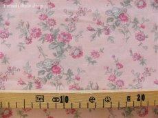 画像2: 「即納J/F」布:マリオン(ピンクベースピンク・グレイ)長さ50cm単位 /80g (2)