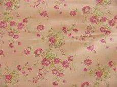 画像1: 「即納J/F」布:マリオン(ピンクベースピンク・グリーン)長さ50cm単位 /80g (1)