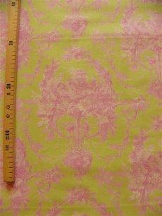 画像2: 「即納J/F」布:メラニー(グリーンベースピンク)長さ50cm単位 /80g (2)