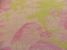 画像3: 「即納J/F」布:メラニー(グリーンベースピンク)長さ50cm単位 /80g (3)