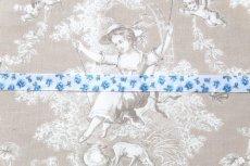 画像6: 「J即納」グログランリボン1.5cm(小花・ブルー) /6g (6)