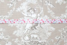画像6: 「J即納」グログランリボン1.5cm(小花・オレンジピンク) /6g (6)