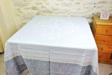 画像3: 「即納F」テーブルクロス160x160cm:ヴェルサイユ(ピンク・グレイ、ジャカード、テフロン加工) /570g (3)
