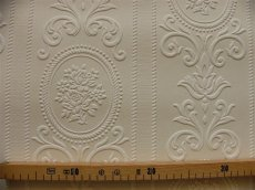 画像3: 【送料込み】「即納F」壁紙:ヴェルサイユ(ホワイト)10m巻き /1500g (3)