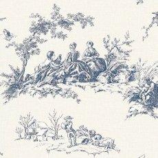 画像2: 【送料込み】「即納F」壁紙:tdj四季の喜び(白ベースブルー)10m巻き /1800g (2)