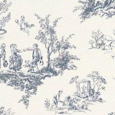 画像3: 【送料込み】「即納F」壁紙:tdj四季の喜び(白ベースブルー)10m巻き /1800g (3)