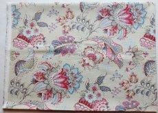 画像2: 「F在庫」はぎれ70×50:アカプルコ(クリームベースピンク・水色)色番4 (2)