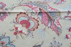 画像12: 「F在庫」はぎれ70×50:アカプルコ(クリームベースピンク・水色)色番4 (12)