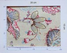 画像4: 「F在庫」はぎれ70×50:アカプルコ(クリームベースピンク・水色)色番4 (4)
