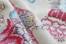 画像5: 「F在庫」はぎれ70×50:アカプルコ(クリームベースピンク・水色)色番4 (5)