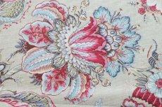 画像10: 「F在庫」はぎれ70×50:アカプルコ(クリームベースピンク・水色)色番4 (10)