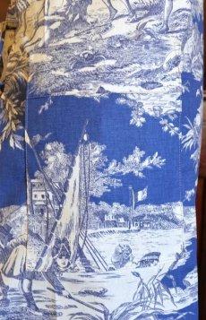 画像5: 「即納J」長紐エプロン:水の物語(ブルーベースマリンブルー) /220g (5)