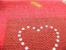 画像3: 「即納J」はぎれ70x50:モントルー(赤ベース・ハート) /95g (3)