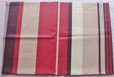 画像1: 「即納J」はぎれ80x50:撥水加工シロッコ(ブラウン・赤) /90g (1)