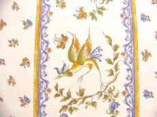画像4: 「J即納」はぎれ80x50:ムスティエ(プロヴァンス、鳥、ブルー)/80g (4)