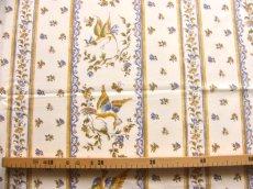 画像2: 「J即納」はぎれ80x50:ムスティエ(プロヴァンス、鳥、ブルー)/80g (2)