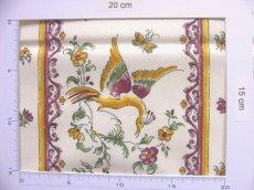 画像7: 「即納F」はぎれ80x50:ムスティエ(プロヴァンス、鳥、赤)/80g (7)