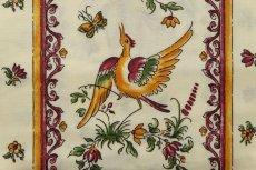 画像10: 「即納J/即納F」はぎれ80x50:撥水加工 ムスティエ(プロヴァンス、鳥、赤) /90g (10)