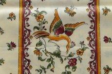 画像11: 「即納J/即納F」はぎれ80x50:撥水加工 ムスティエ(プロヴァンス、鳥、赤) /90g (11)