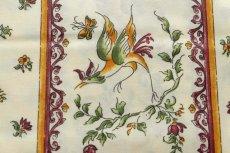 画像13: 「即納J/即納F」はぎれ80x50:撥水加工 ムスティエ(プロヴァンス、鳥、赤) /90g (13)